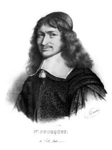 Gravure portrait de Nicolas Fouquet