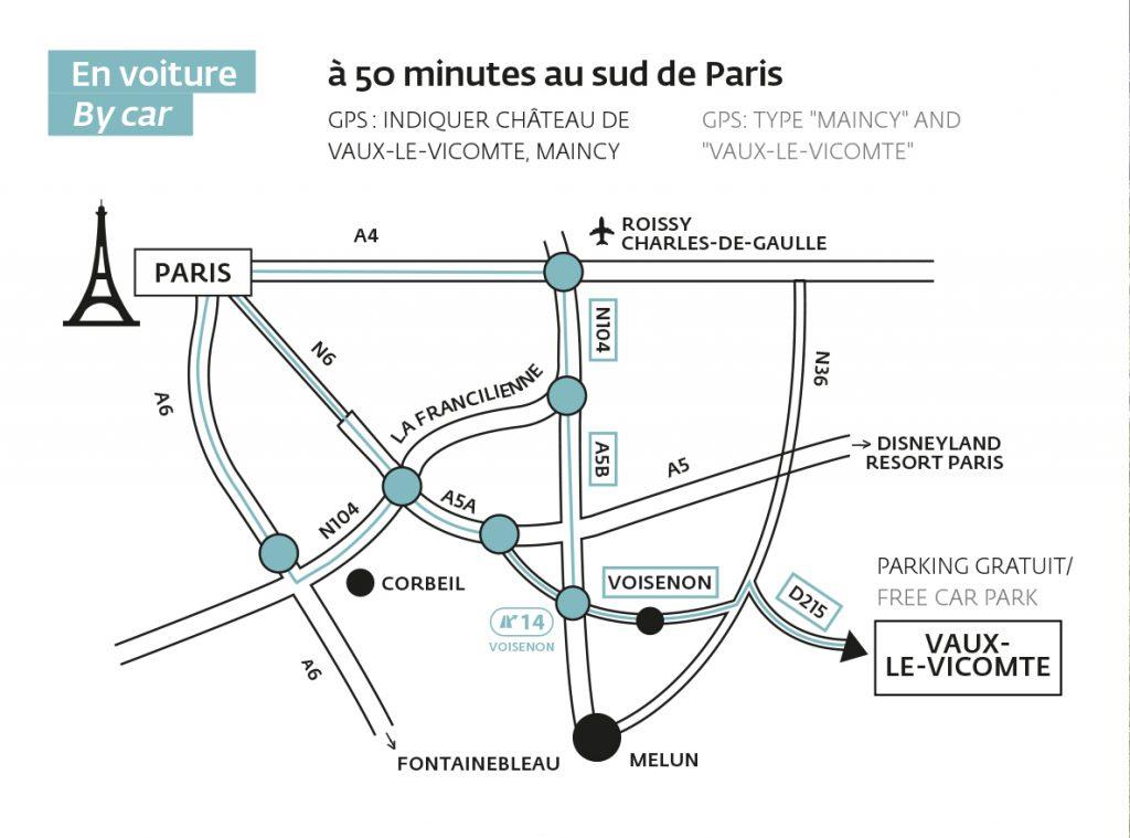 plan voiture depuis Paris - transports