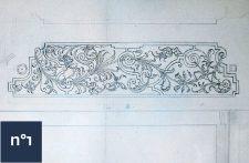 dessin 17ème broderies de buis Tessin