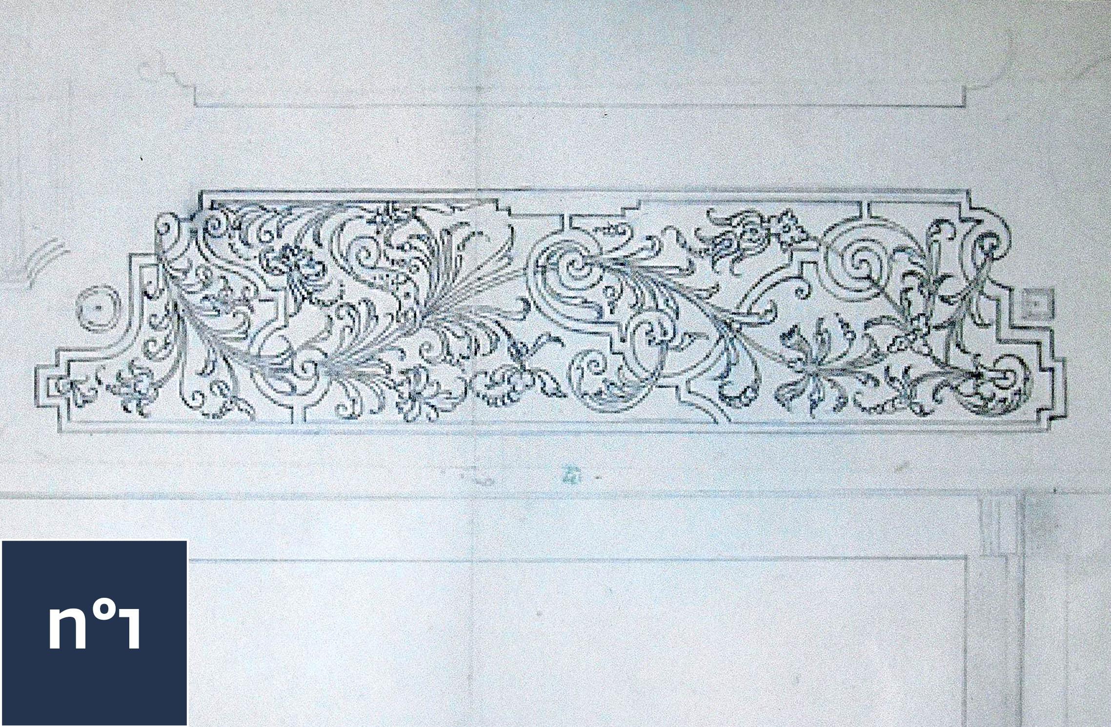 Dessin Broderie dessin broderies de buis 17ème par tessin - château de vaux-le-vicomte