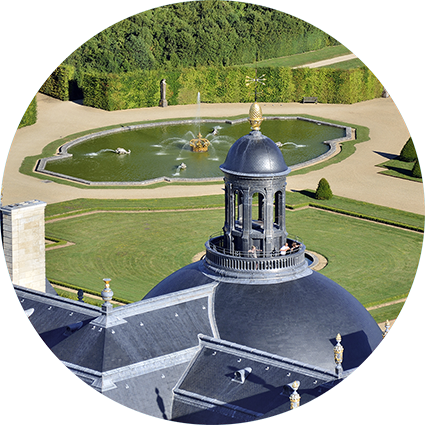View of the dome of Vaux-le-Vicomte