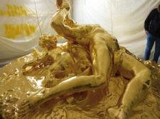 gilded Triton fountain