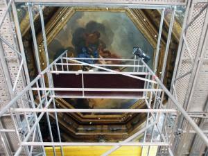 Restauration plafond chambre des muses2