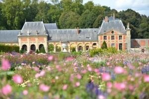 Parterre de fleurs du jardin de Vaux-le-Vicomte
